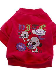 Chien T-shirt Vert / Bleu / Rouge Rose Vêtements pour Chien Printemps/Automne Dessin-Animé