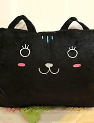 Cute Cartoon Black Kitty Novelty Pillow