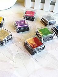 Недорогие -6 Штук красочные деревянные штамп комплект