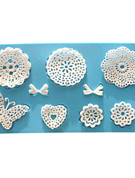 cheap -Mold Flower Lace For Pie For Cookie For Cake Silicone Eco-friendly Valentine's Day High Quality