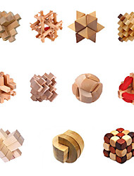 abordables -Chino tradicional de madera Inteligencia Lock juguete (colores surtidos)
