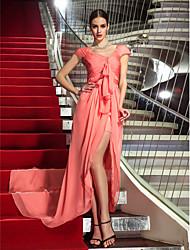 economico -A tubino Asimmetrico Chiffon Serata formale Ballo militare Vestito con A incrocio Con ruche di TS Couture®