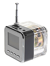 Cube Style Media Speaker with FM Radio,SD Card Supported(Assorted Colors)