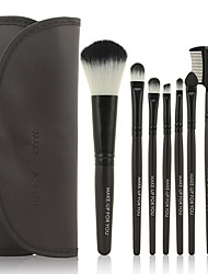 7 Brush Sets Syntetisk Hår Begrænser bakterier Ansigt Læbe Øjne MAKE-UP FOR YOU
