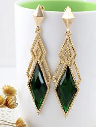 Kayshine Green Diamond Lattice form øreringe