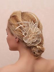 Недорогие -Замечательный цветок с перо женские Свадебные заставки