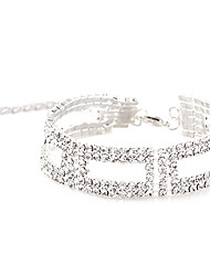 cheap -Women's Crystal Rhinestone Silver Plated Others Chain Bracelet - Unique Design Fashion Square Geometric Bracelet For Party Daily
