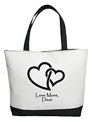 Недорогие -Персональный подарок Холст Любовь Pattern Горизонтальное плоским сумка