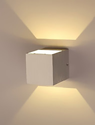Wall Light Ambient Light Flush Mount wall Lights 1 LED Integrated Modern/Contemporary Electroplated