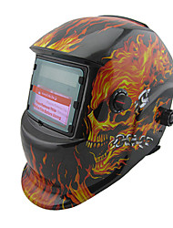 cheap -Welding Helmet 7-12 Flames Skull Head Metal Processing Machinery Protector