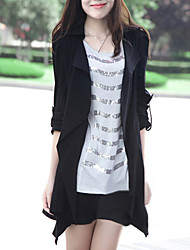 billige -Qianxun Kvinders Solid Color Casual Coat