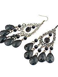 cheap -Women's Chandelier Drop Earrings - Drop Bohemian Black For Party / Daily