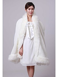Faux Fur Wedding Party Evening Fur Wraps Wedding  Wraps Hoods & Ponchos Capes