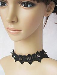Schmuck Punk Halskette Lolita Schwarz Lolita Accessoires Halskette Spitze Für Spitze