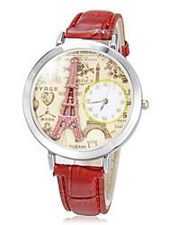 baratos -Mulheres Relógio de Pulso Quartzo Venda imperdível Banda Analógico Brilhante Casual Preta / Branco / Vermelho - Marron Vermelho Rosa claro
