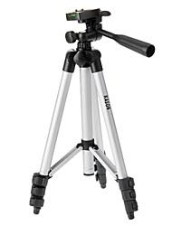 KASON LX-130 4-Section Camera Tripod (Silver+Black)