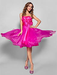 A-Line Strapless Sweetheart Knee Length Organza Prom Dress by TS Couture®