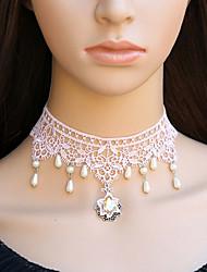 Бижутерия Сладкое детство Ожерелья Принцесса Лолита Аксессуары Ожерелья Кружева Для Кружева Искуственные драгоценные камни