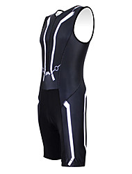 Kooplus Tri Suit Men's Women's Unisex Sleeveless Bike Coveralls Clothing Suits Quick Dry Moisture Permeability Wearable Breathable