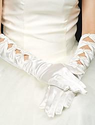 Al gomito Con dita Guanti Raso elasticizzato Guanti da sposa Da sera/eleganti Primavera Estate Autunno