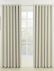 cheap -Rod Pocket Grommet Top Tab Top Double Pleat Two Panels Curtain Neoclassical , Embossed Solid Living Room 100% Polyester Polyester Material