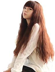 Fluffy Corn ricci parrucche Lady Fashion lunga sintetica completa Bang parrucche 3 colori disponibili