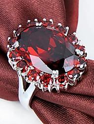 Claic Lady' Red Garnet Zircon Ring  1Pc