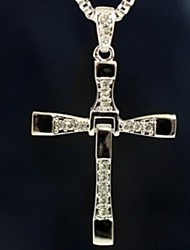 cheap -Men's Cross Pendant Necklace  -  Movie Jewelry Silver Necklace For Christmas Gifts Daily Casual