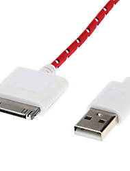 Weave Line USB 2.0 Male to 30-Pin Male for iPhone4/4s(3.0m)