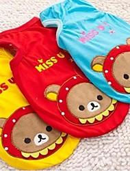 Cani T-shirt Abbigliamento per cani Cosplay Fantasia animale Giallo Rosso Blu