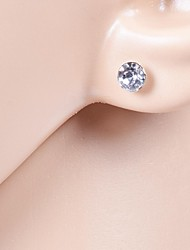 cheap -Women's Crystal Solitaire Stud Earrings - Cubic Zirconia, Rhinestone, Imitation Diamond For Wedding / Party / Daily