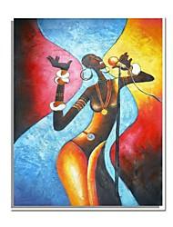 economico -Dipinte a mano pittura astratta Persone olio con telaio allungato pronta per essere appesa
