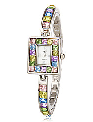 cheap -Women's Quartz Bracelet Watch Japanese Imitation Diamond Band Sparkle Elegant Fashion Multi-Colored