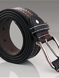 New Mode Herretøj imiteret læder Shape Metal Buckle Belt