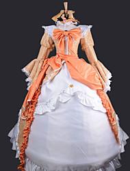 Недорогие -Вдохновлен Вокалоид Kagamine Rin видео Игра Косплэй костюмы Косплей Костюмы Платья Пэчворк Платье Ожерелья Головная повязка