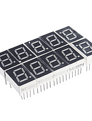 abordables -10-Pin 7 segmentos LED rojo Display Cátodo Común (10 PCS)