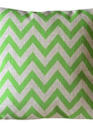 cheap -Ever Green Wave Stripe Decorative Pillow with Insert