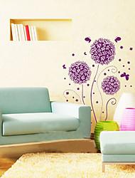 Недорогие -1шт фиолетовый цветок стикер стены