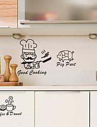 Cucina di pesce Pig caffè Decorative Wall Stickers