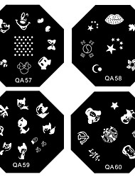 cheap -1PCS Nail Art Stamp Stamping Image Template Plate QA Series NO.5-60(Assorted Pattern)
