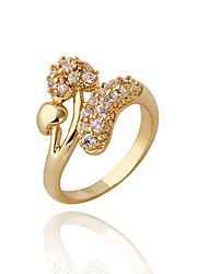 Jian Feng 18K Ægte guldbelægning Zircon J0460 Ring