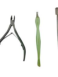 billige Cuticle & Callus Fjernere-3stk. Manikyr Kits (saks & skubber & skje)