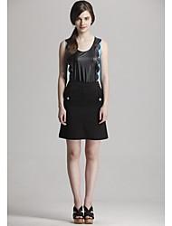 abordables -Mujeres Zoely moda correa de cuero del patrón Spell chaleco sin mangas 101123M015