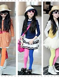 Недорогие -Девушки Точки цвета конфеты Колготки случайный цвет