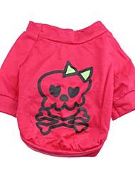 Katzen Hunde Pullover Rose Hundekleidung Sommer Frühling/Herbst Totenkopf Motiv Niedlich Lässig/Alltäglich