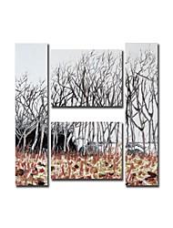 economico -Dipinto a mano olio pittura di paesaggio Littlewoods pittura con telaio allungato Set di 4
