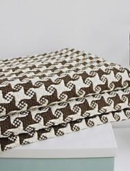 Elaine Cotton KF Check Pattern Bordure Seastar Pattern Sofa Cushion 310903