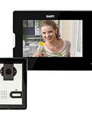 billiga -7 tums video porttelefon Doorbell Intercom Kit 1-kamera 1-monitor Night Vision