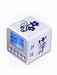 "NIZHI TT-032 1.5"" Screen 3W Mini MP3 Speaker with FM / USB / TF / Micro USB - White"