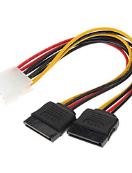IDE to 2 Serial ATA HDD Hard Drive Power Cable(0.15M)